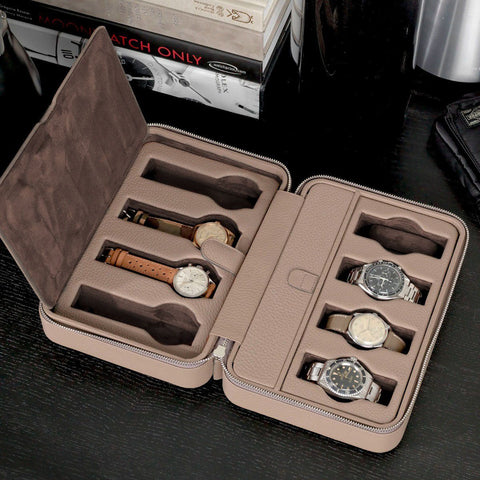 Taupe Luxury Leather Watch Box