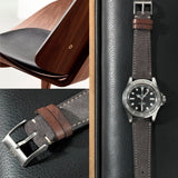 Rolex Refined Dark Grey Suede Watch Strap