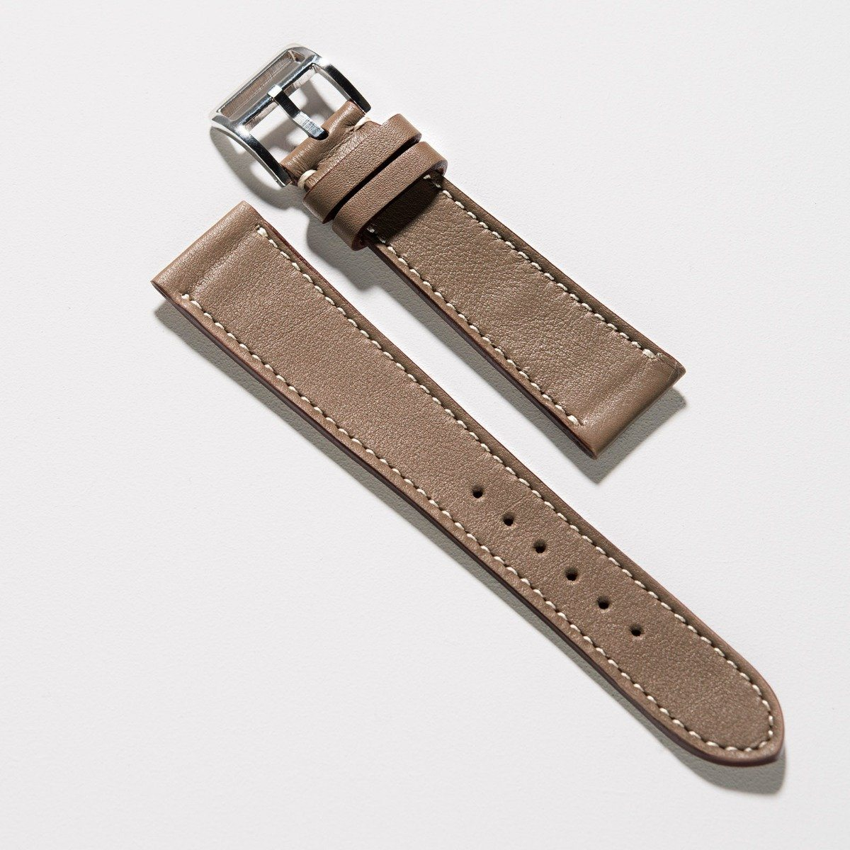 Is Taupe Grey: Taupe Grey Leather Watch Strap