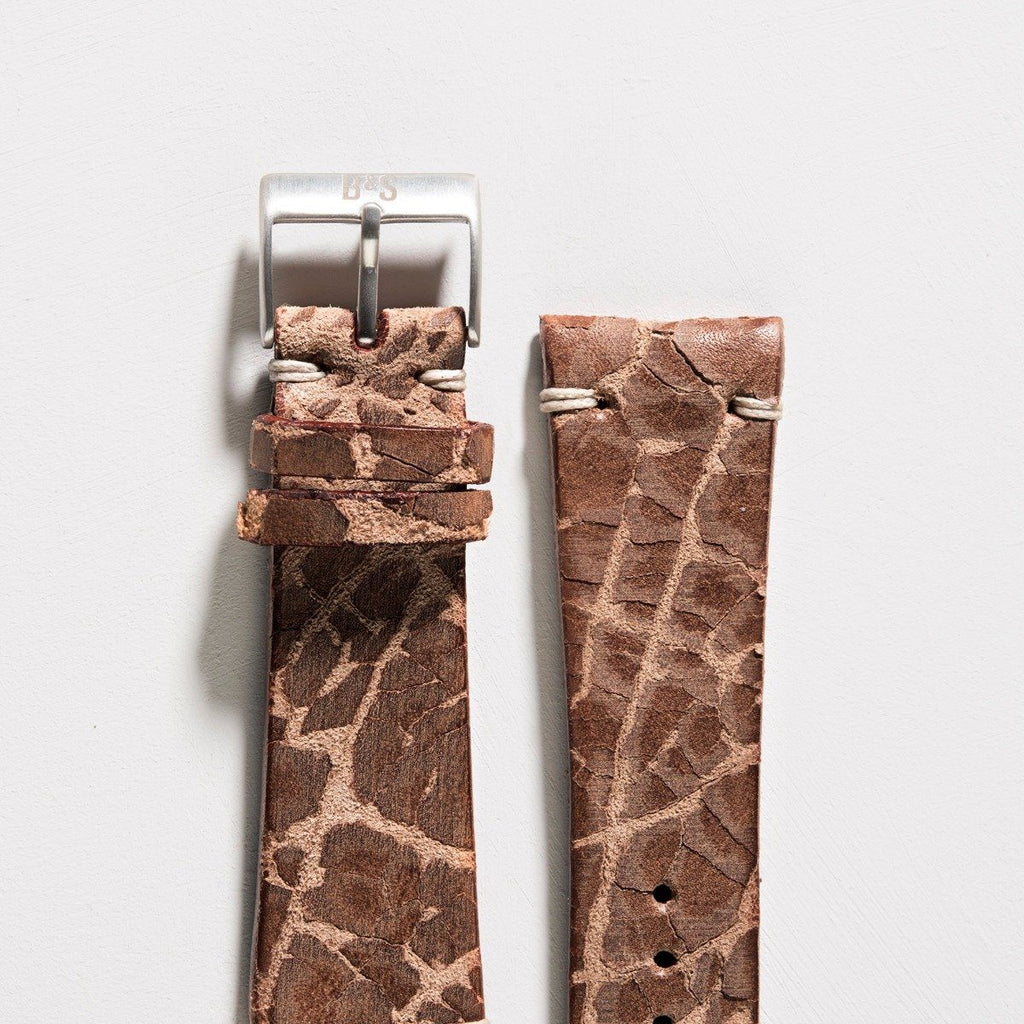 Rustico Brown Leather Watch Strap