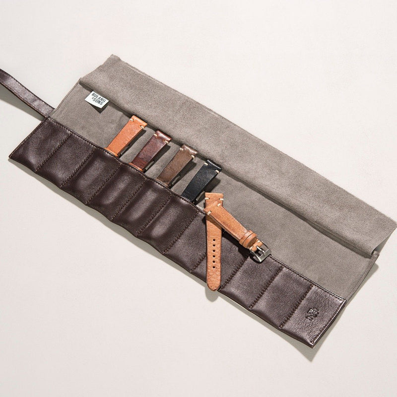 Brown Leather Strap Roll