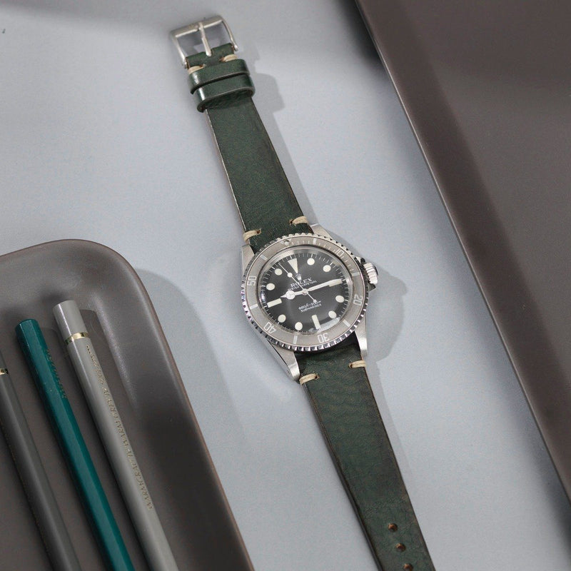 Rolex Vintage Green Leather Watch Strap