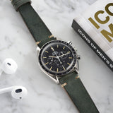Omega Vintage Green Leather Watch Strap