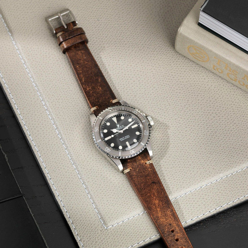 Rolex Woodie Brown Leather Watch Strap