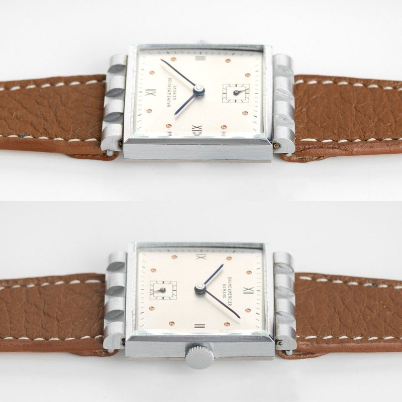 Baume & Mercier Cream Roman Dial Square Case