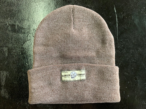 Danger Company Cuffed Heather Brown Beanie