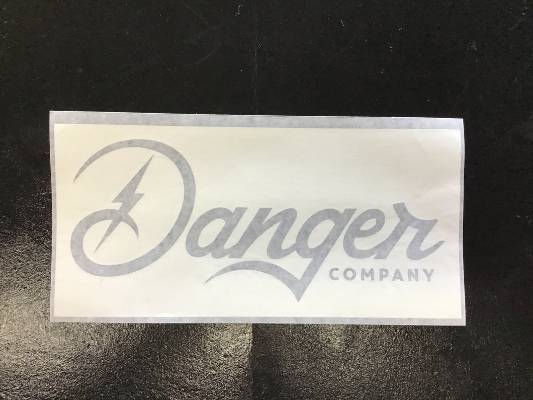 Danger Company Large Black Decal
