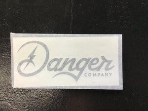 Danger Company Medium Black Decal