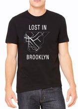 Load image into Gallery viewer, Stay connected to everything Brooklyn has to offer in our classic LOST IN BROOKLYN tee reppin' all subway lines leading to the major hubs, and neighborhoods in Brooklyn!