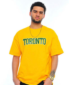 LOST IN TORONTO COORDINATES TEE- YELLOW