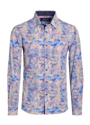 Mutli-Print Button Down Shirt