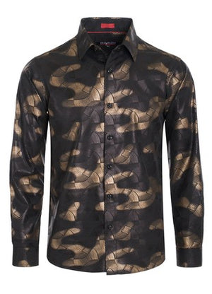 Army Fatigue Print Button Down Shirt