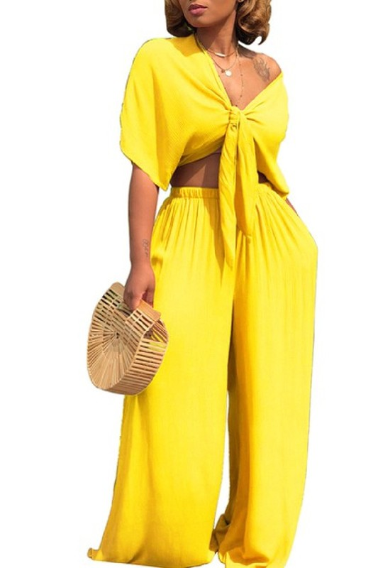 Salena G Yellow Two Piece Set