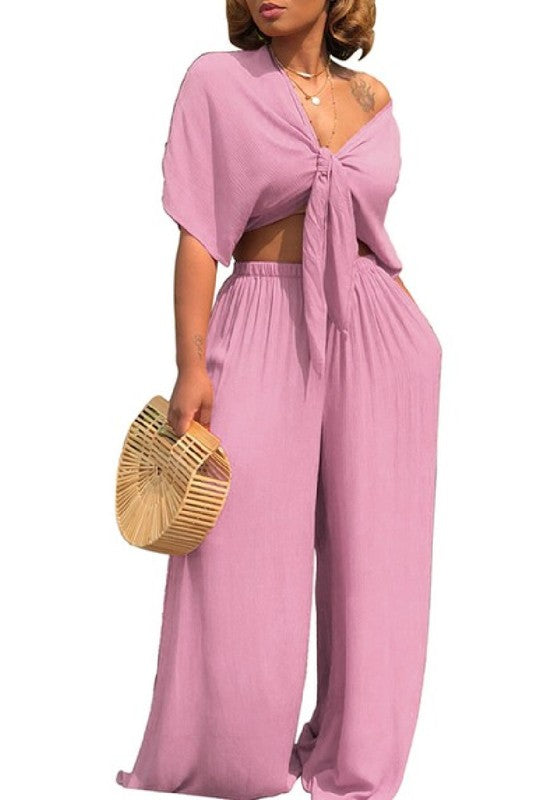 Salena G Pink Two Piece Set
