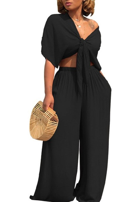Salena G Black Two Piece Set
