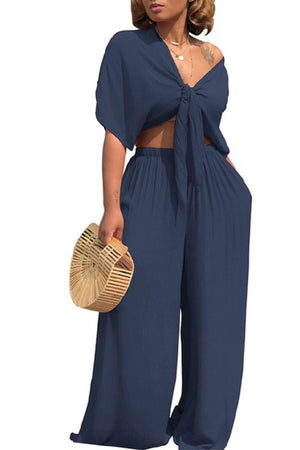 Salena G Blue Two Piece Set