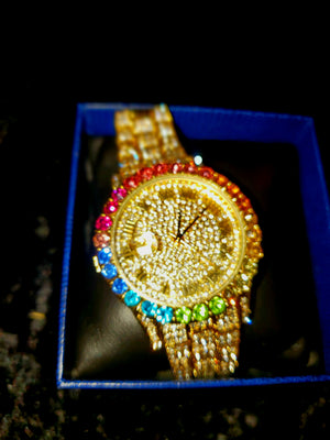 J VICTORIAN BLING IT WATCH (GOLD)