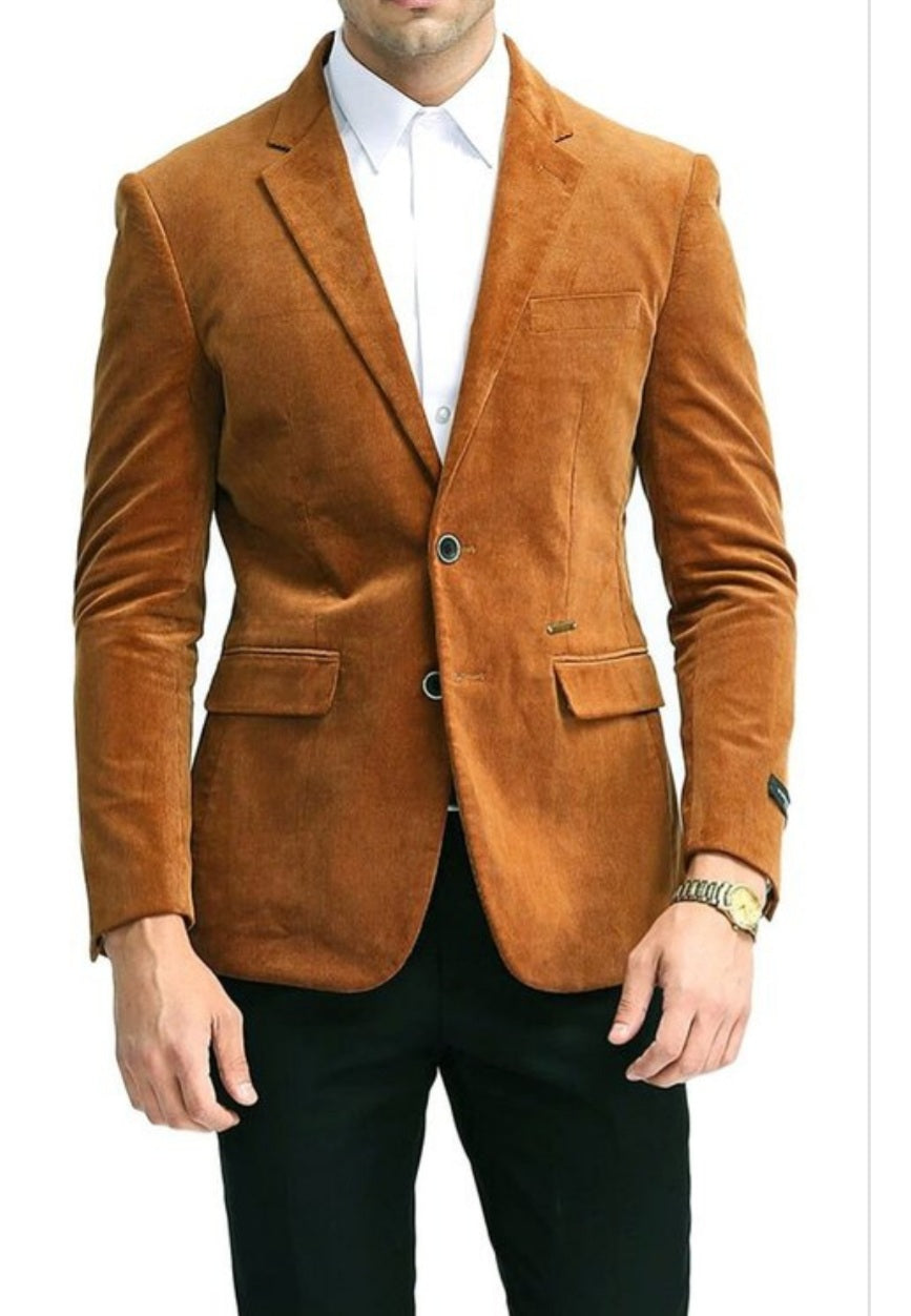 Men's Rust Suede Blazer