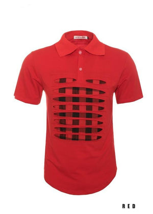 Plaid Red Graphic T-Shirt