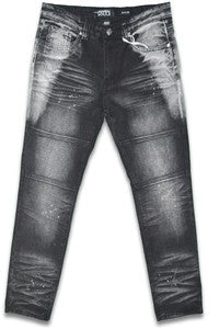 Joey Print Distressed Jeans for Men