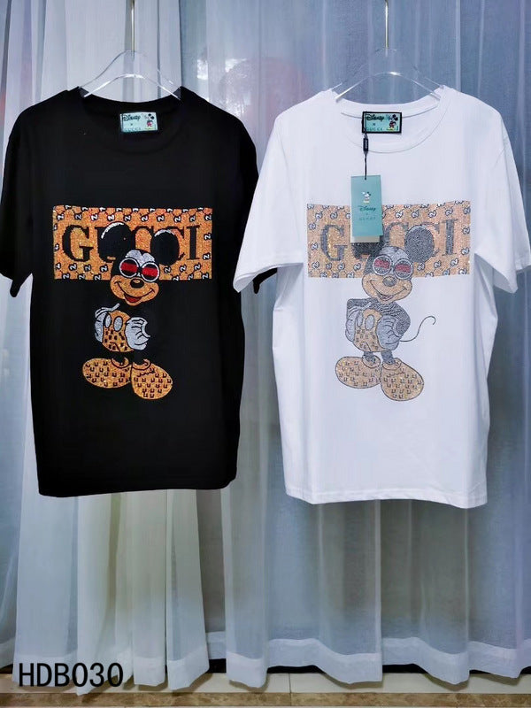 GG Logo Short Sleeve Mickey Shirt #3