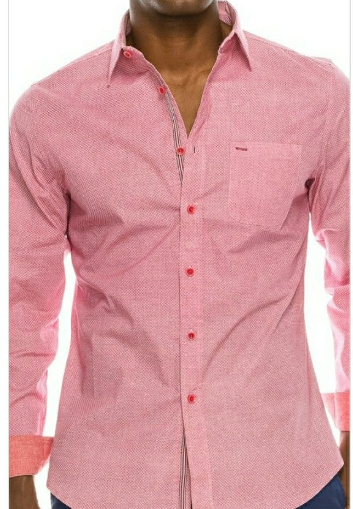 Red Pinkish Button Down