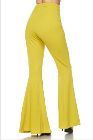 Yellow Zippered Pants
