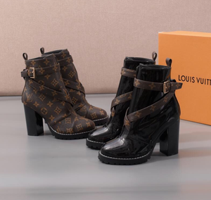 LV Brown Booties