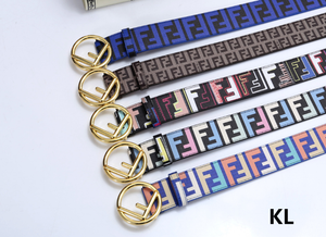 F Buckle Logo Belt #234