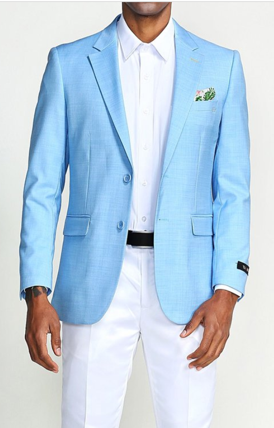 Men's Light Blue Blazer