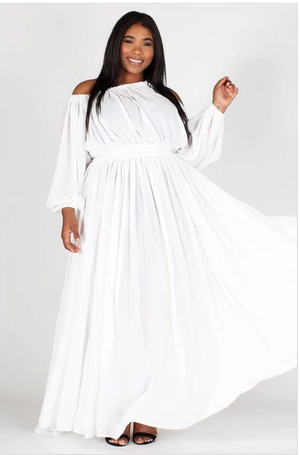 White Maxi Plus Dress