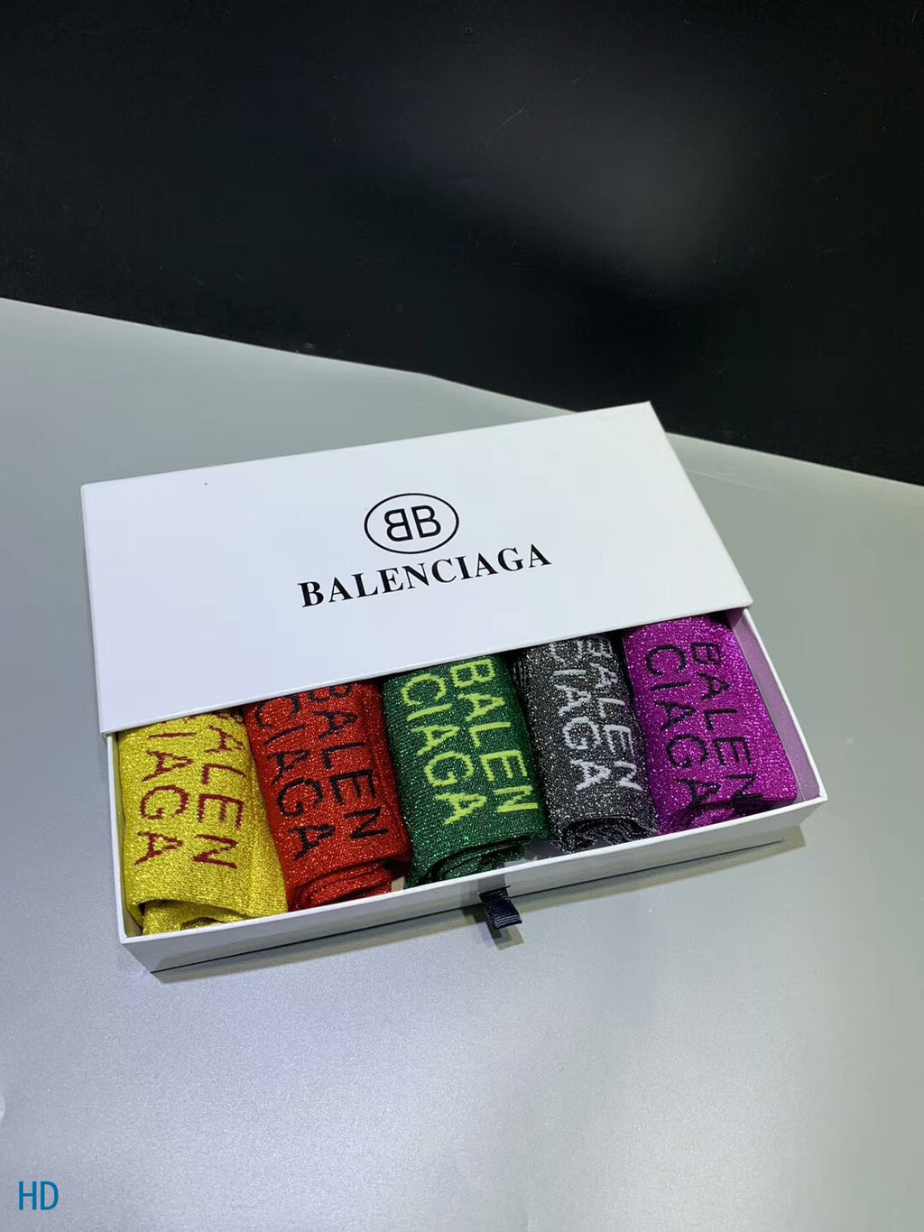 Balenciaga Socks Box of 5