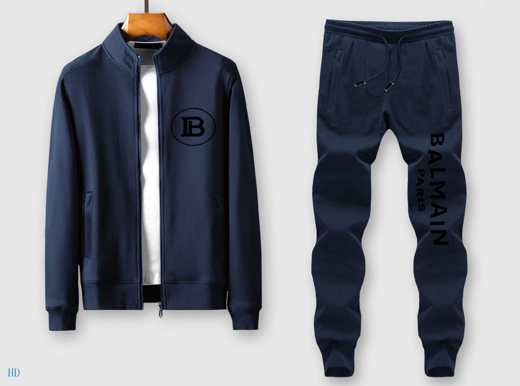 B Designer Navy Tracksuits for Men #02
