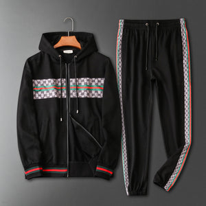 Black and Red Luxury Tracksuits for Men