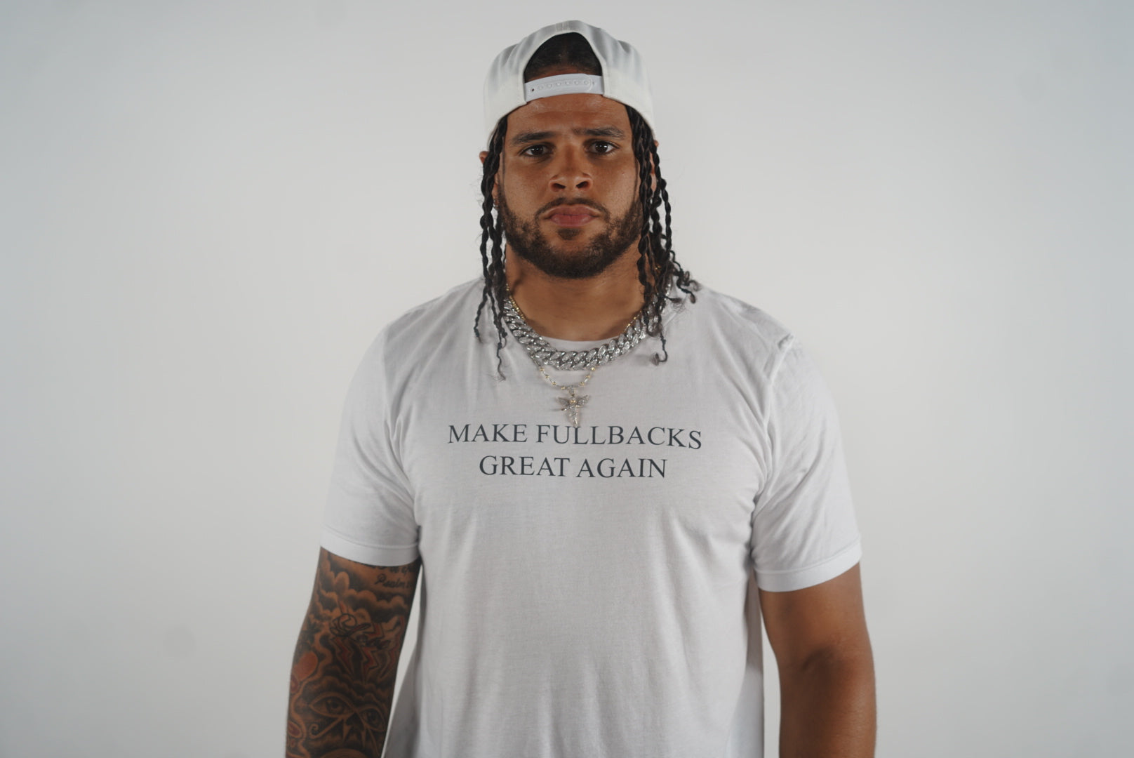 MFGA White Snapback-Make Fullbacks Great Again by Keith Smith