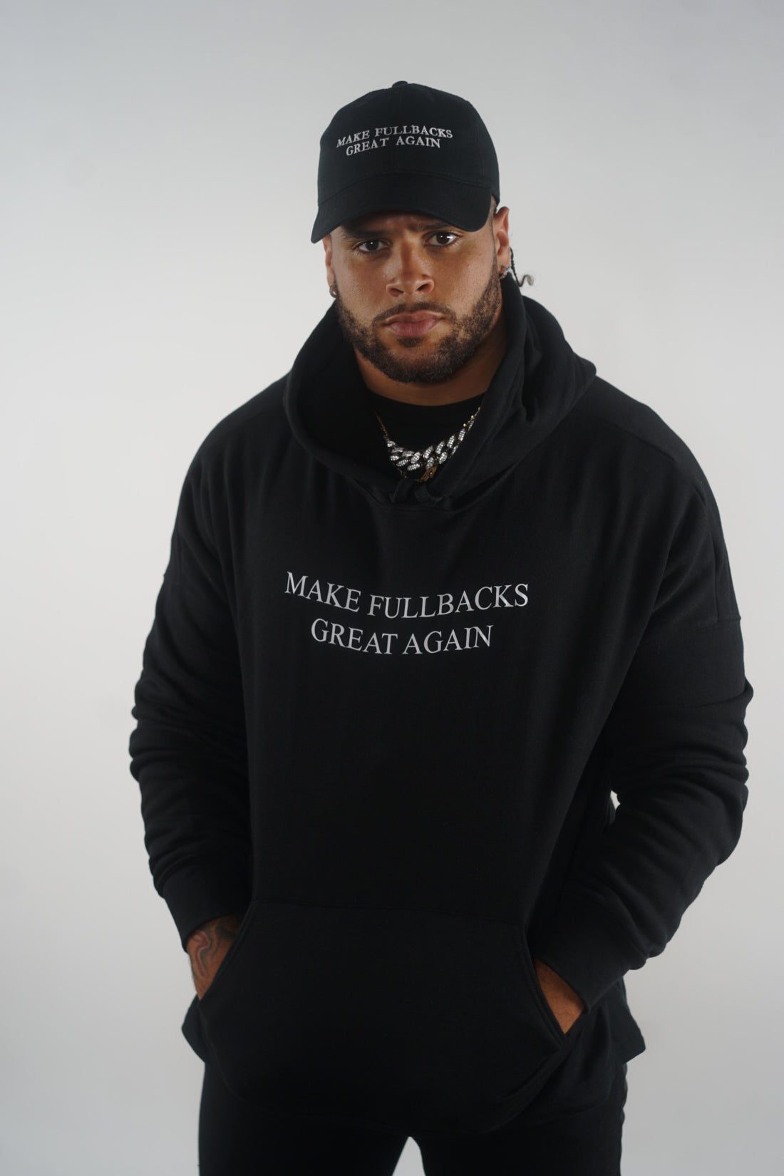 MFGA Black Dad Hat-Make Fullbacks Great Again by Keith Smith