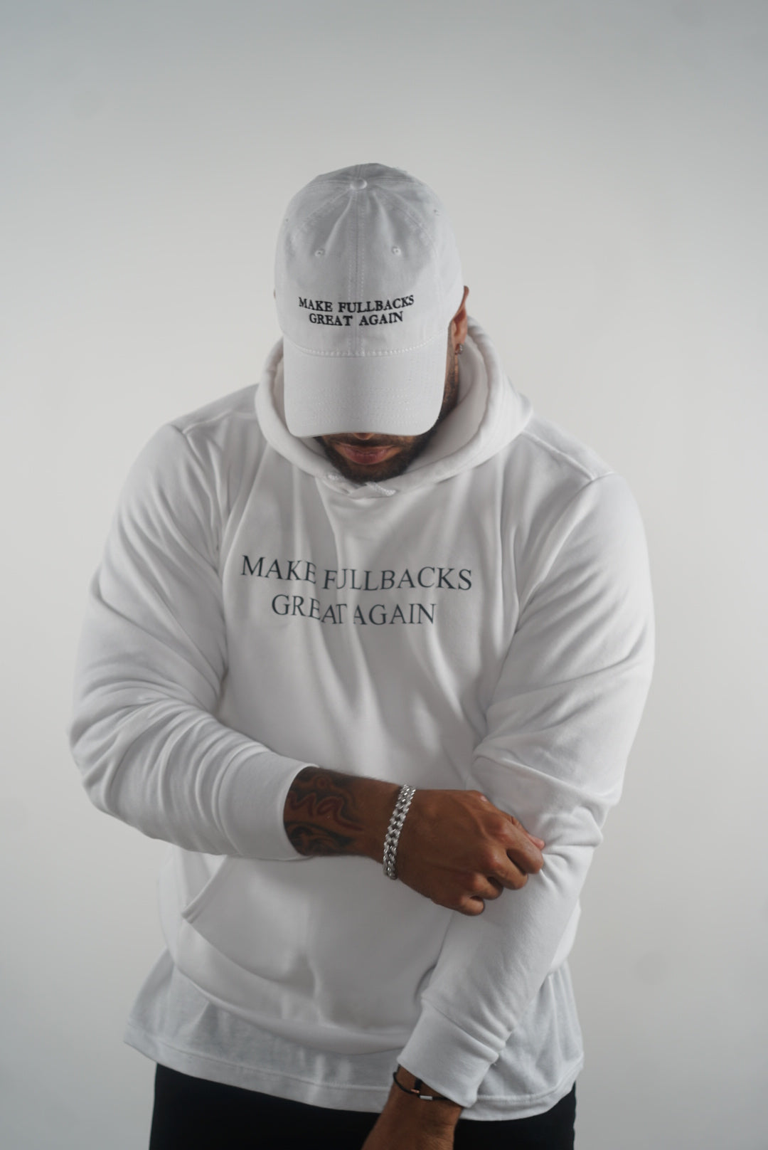 MFGA White Hoodie-Make Fullbacks Great Again by Keith Smith