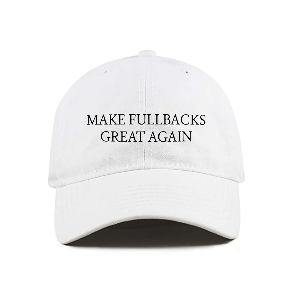 MFGA White Dad Hat-Make Fullbacks Great Again by Keith Smith