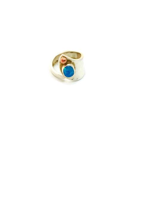 Adjustable Fire Opal Ring