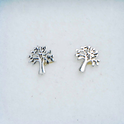 Silver Tree of Life Studs