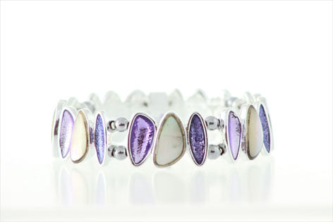 Purple and Mother of Pearl Bracelet