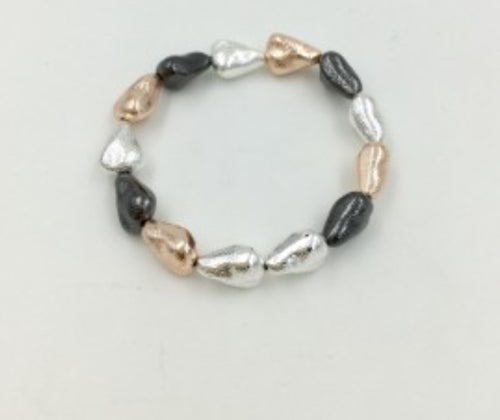 Three Tone Nugget Bracelet