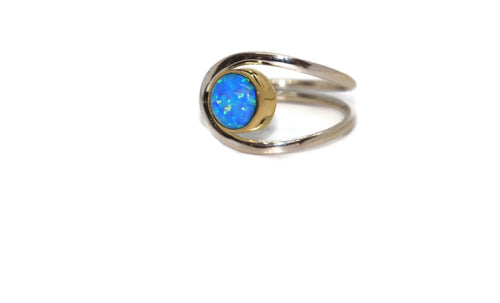 Brass and Fire Opal Ring