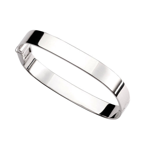 Wide Plain Bangle