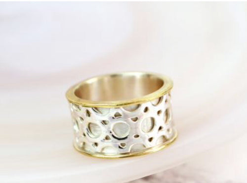 Gold and Silver Spinner Ring