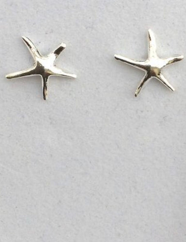 Silver Stud Starfish Earrings
