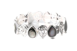 Grey Mother of Pearl Bracelet