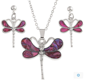 Pink Dragonfly Set