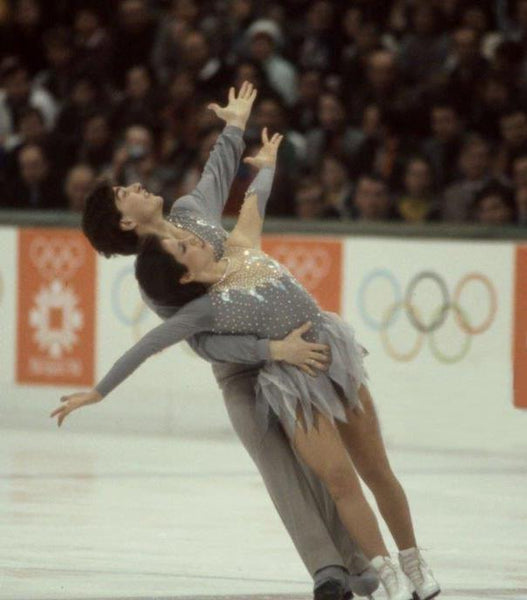 Elisa Spitz competes in ice dance at the 1984 Winter Olympics with Scott Gregory