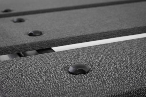 A close-up detail of an adjustable platform bed.